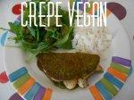 crepe verde vegan